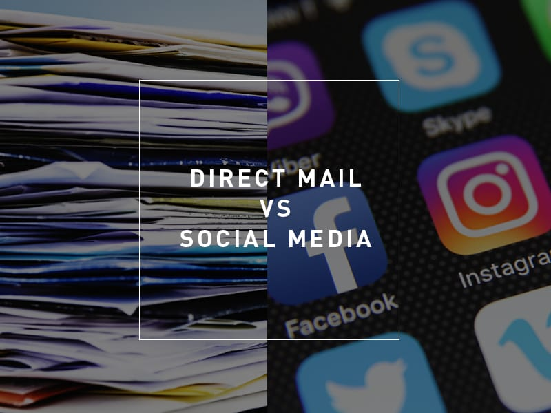 Printed Direct Mail Versus Social Media Advertising [infographic]