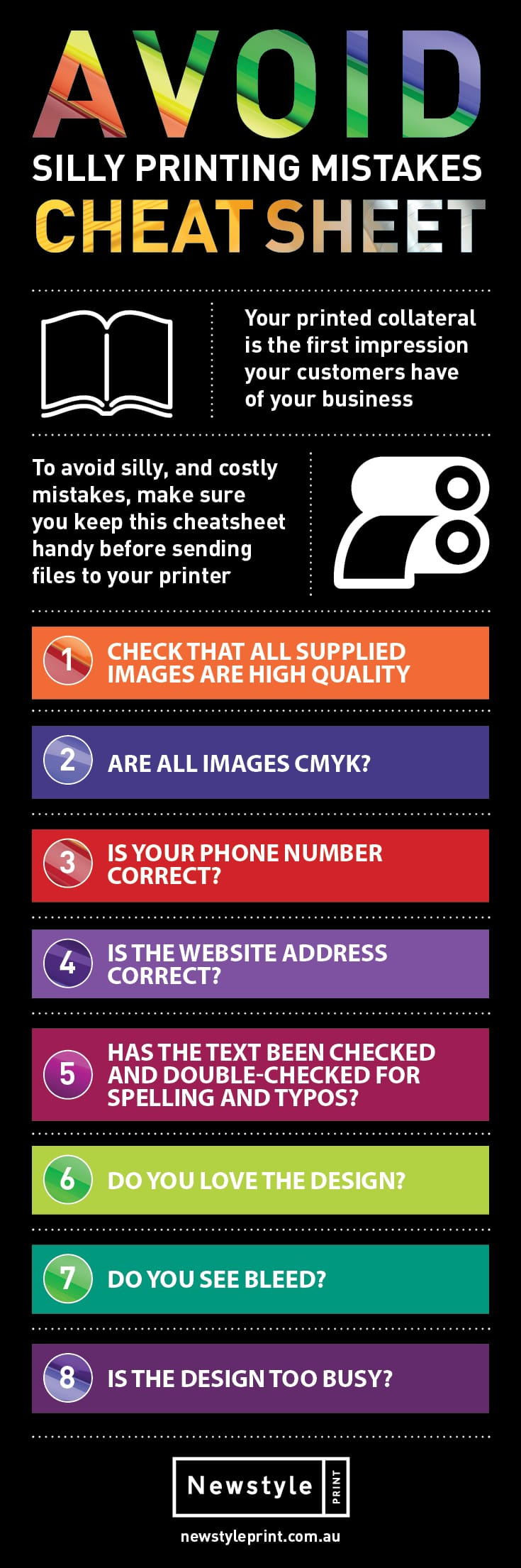 Top 5 Printing Mistakes Infographic