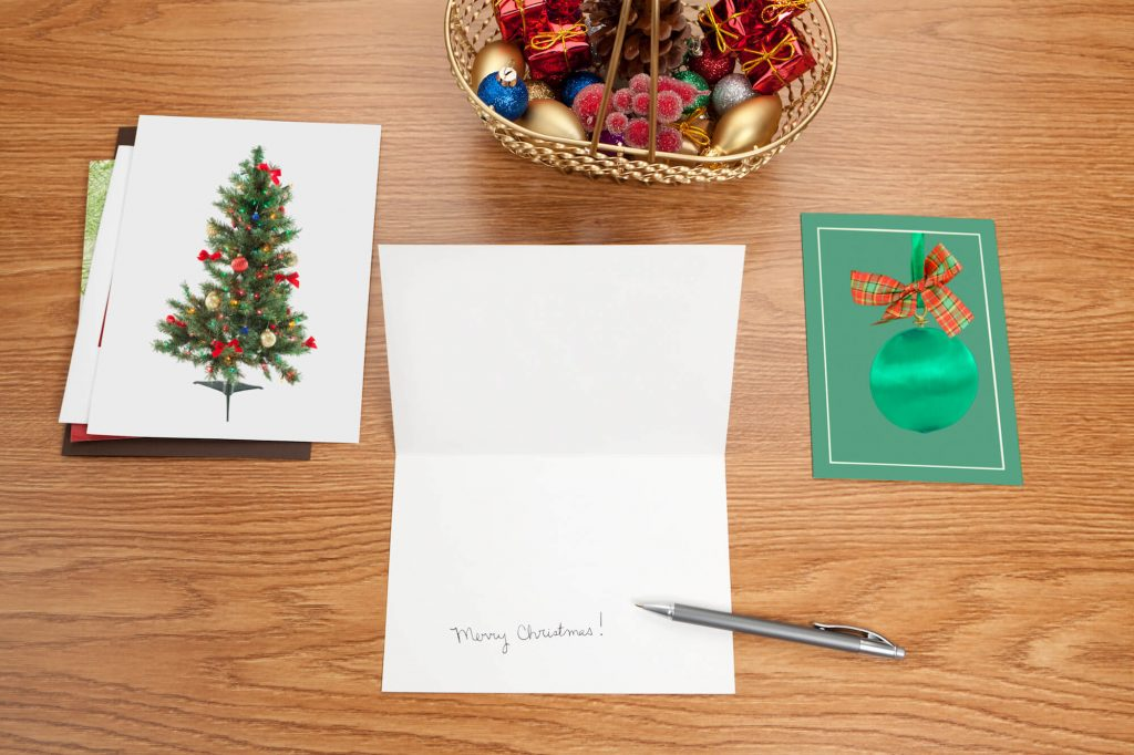 Printed Christmas Card Vs eCard - Newstyle Print Blog - Paper printed cards - card written in by pen